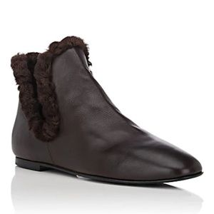 THE ROW EROS BOOTIE BROWN SIZE 38